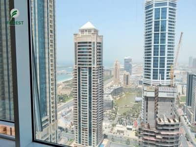 فلیٹ 1 غرفة نوم للايجار في دبي مارينا، دبي - Spacious Unfurnished 1BR with Lake View Vacant