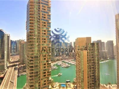 2 Bedroom Apartment for Rent in Jumeirah Beach Residence (JBR), Dubai - Unfurnished 2 Beds with Stunning Marina View