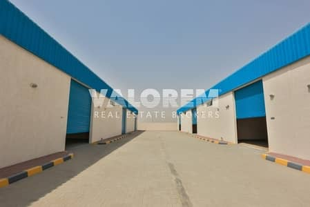 مستودع  للايجار في السجع، الشارقة - Brand New warehouses for rent in Al-Sajah Ind. Area Sharjah