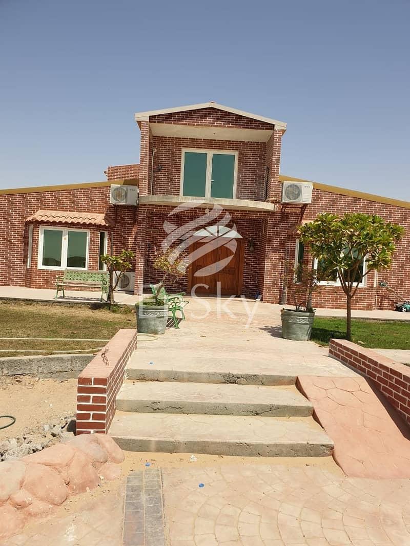 VIP Farm in Al Khatim  Fruit Farm  Private Pool Furnished