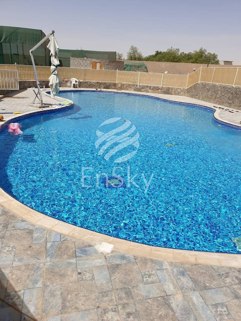 11 VIP Farm in Al Khatim  Fruit Farm  Private Pool Furnished