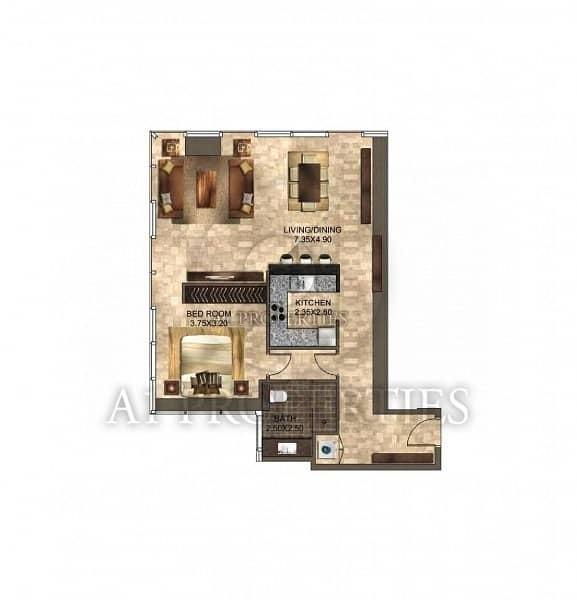 15 Corner Studio with Kitchen Appliances in DIFC