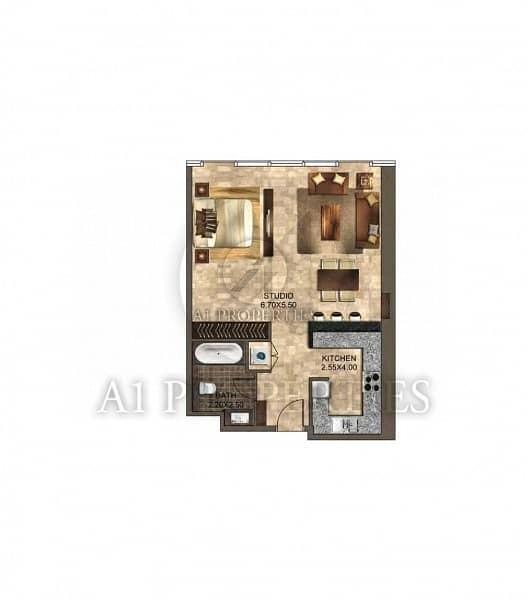 13 Cozy Bright Studio Apartment with SZR View