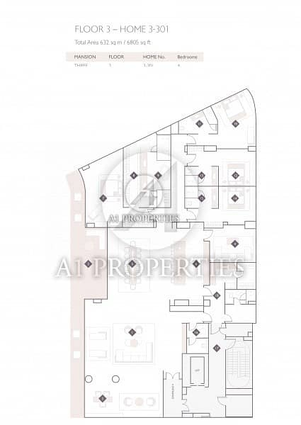 22 Brand New Modern 4 Bedrooms Full Sea View