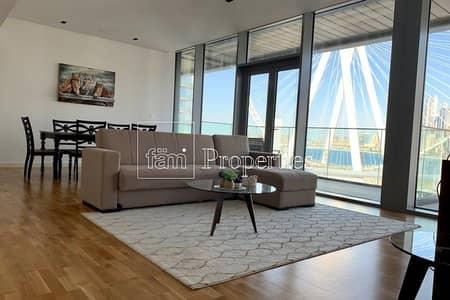شقة 1 غرفة نوم للايجار في جزيرة بلوواترز، دبي - Fully Furnished 1Bed|Ain Dubai-Partial Sea View