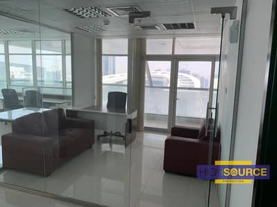 Office for Rent in Business Bay, Dubai - Furnished with Glass Partitions-with Balcony-1345 sqft in Business bay