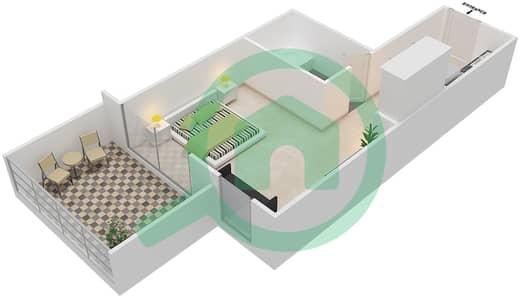 Resortz by Danube - Studio Apartments unit G05 Floor plan