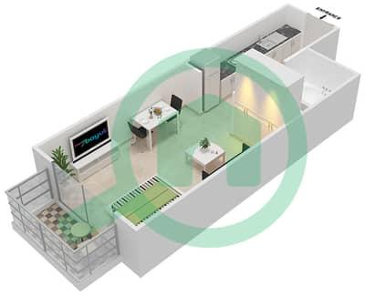 Resortz by Danube - Studio Apartments unit 101,103,130 Floor plan