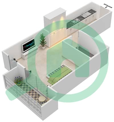 Resortz by Danube - Studio Apartments unit 105 Floor plan