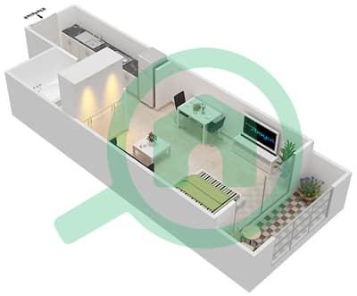 Resortz by Danube - Studio Apartments unit 202,204,211 Floor plan