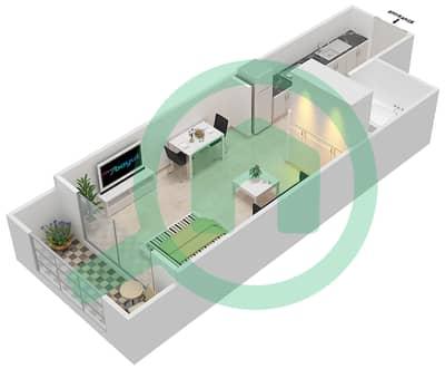 Resortz by Danube - Studio Apartments unit 206,212,216 Floor plan