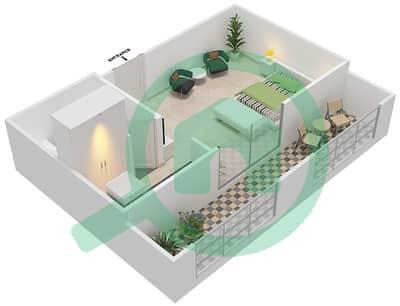 Resortz by Danube - Studio Apartments unit 237 Floor plan