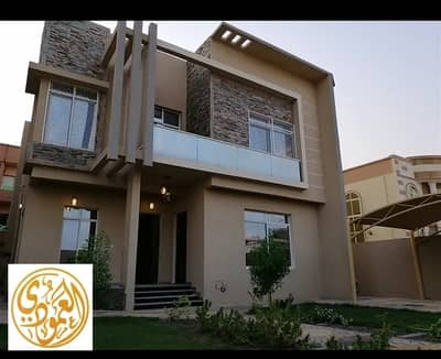 5 Bedroom Villa for Sale in Al Rawda, Ajman - Modern design villa with electricity, water and air-conditioning super deluxe finishing freehold for all nationalities nearby abaya roundabout