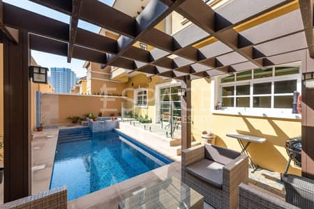 3 Bedroom Villa for Sale in Dubai Sports City, Dubai - 3 Bed Gallery View with Private Pool