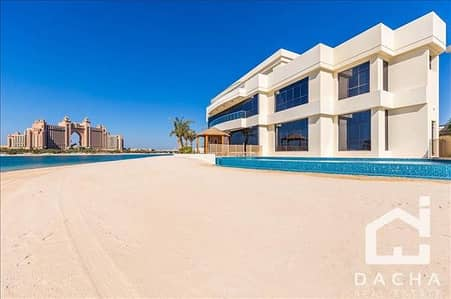6 Bedroom Villa for Sale in Palm Jumeirah, Dubai - Four new villas / Full private beach/ Tip location