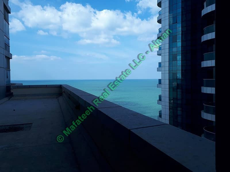 CORNICHE TOWER Two Bedroom And Hall For Rent City View Big Size