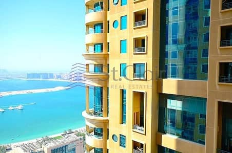 2 Bedroom Flat for Sale in Dubai Marina, Dubai - Large Layout   Fully Furnished 2BR   Partial Sea view