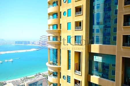 فلیٹ 2 غرفة نوم للبيع في دبي مارينا، دبي - Large Layout | Fully Furnished 2BR | Partial Sea view
