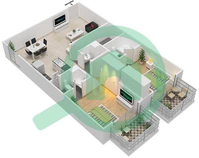 Resortz by Danube - 2 Beds Apartments unit 409 Floor plan