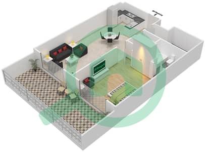 Resortz by Danube - 1 Bed Apartments unit G09 Floor plan