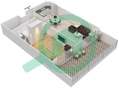 Resortz by Danube - 1 Bed Apartments unit G10 Floor plan