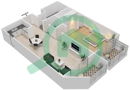 Resortz by Danube - 1 Bed Apartments unit 101 Floor plan