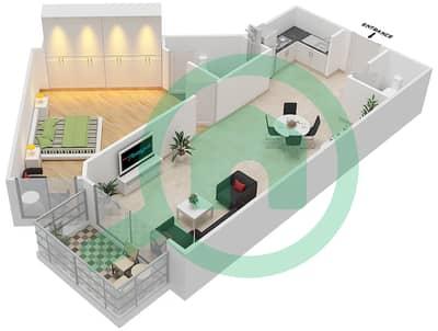 Resortz by Danube - 1 Bed Apartments unit 103 Floor plan