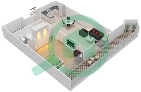 Resortz by Danube - 1 Bed Apartments unit 106 Floor plan