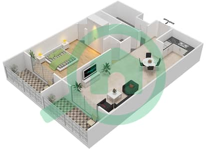 Resortz by Danube - 1 Bed Apartments unit 109 Floor plan