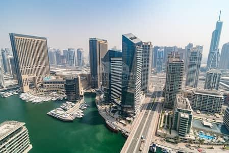 3 Bedroom Flat for Rent in Dubai Marina, Dubai - Panoramic Marina Views | High Floor | Chiller Free