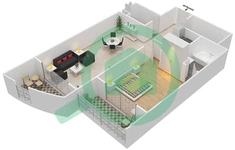 Resortz by Danube - 1 Bed Apartments unit 111 Floor plan