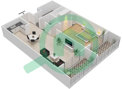 Resortz by Danube - 1 Bed Apartments unit 112 Floor plan