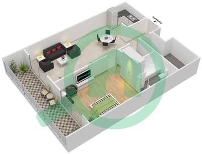 Resortz by Danube - 1 Bed Apartments unit 114 Floor plan
