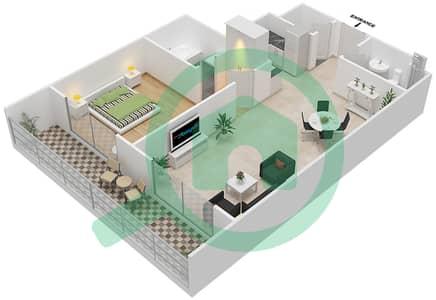 Resortz by Danube - 1 Bed Apartments unit 115 Floor plan