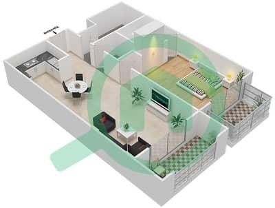 Resortz by Danube - 1 Bed Apartments unit 120 Floor plan