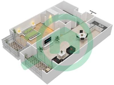 Resortz by Danube - 1 Bed Apartments unit 119 Floor plan