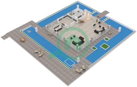 Water Villas - 4 Bedroom Villa Type A Floor plan