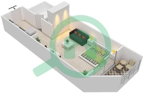 Resortz by Danube - Studio Apartments unit 401 Floor plan