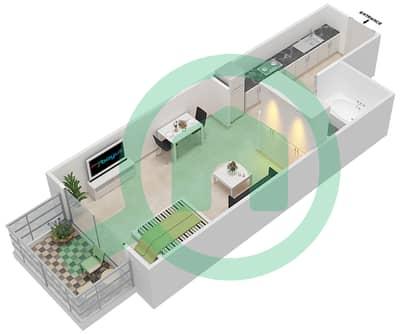 Resortz by Danube - Studio Apartments unit 207 Floor plan