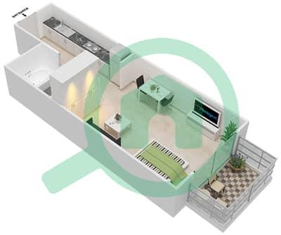 Resortz by Danube - Studio Apartments unit 408 Floor plan