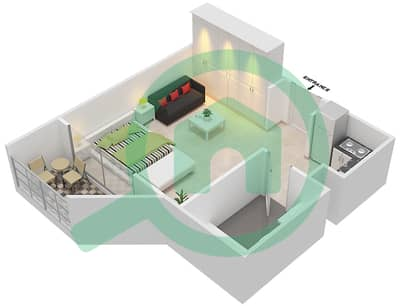 Resortz by Danube - Studio Apartments unit 230 Floor plan