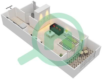 Resortz by Danube - Studio Apartments unit 406,412,414, Floor plan
