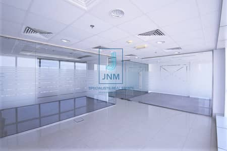 Office for Rent in Jumeirah Lake Towers (JLT), Dubai - Fitted Office With Glass Partitions in JBC