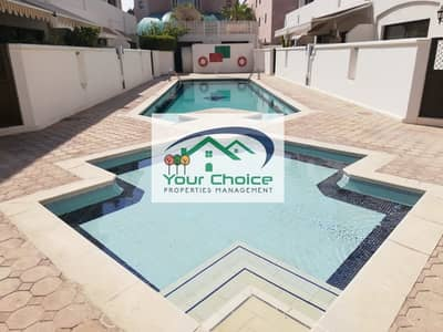 4 Bedroom Villa for Rent in Airport Street, Abu Dhabi - Recently Updated 4 BHK  with Car Parking  & Pool for  165