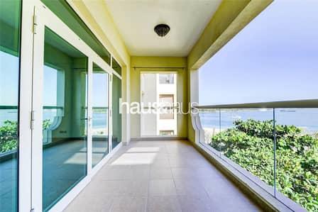 شقة 1 غرفة نوم للايجار في نخلة جميرا، دبي - B Type     Right Hand Side     Sea View   