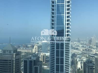 شقة 1 غرفة نوم للبيع في دبي مارينا، دبي - Top Floor w full glass windows