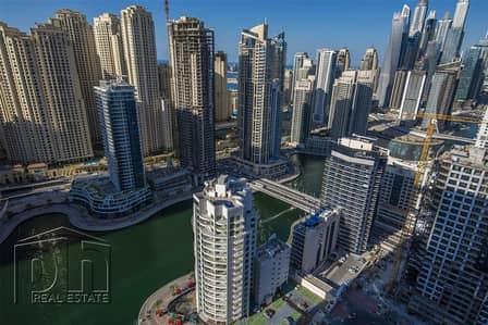 2 Bedroom Apartment for Rent in Dubai Marina, Dubai - Sky Line & Marina View - High floor - 2 Bed