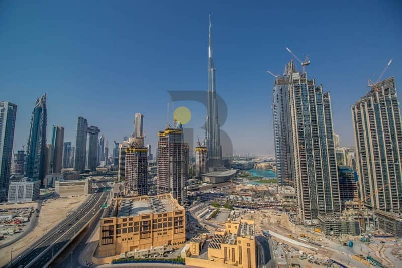 Vacant 2 Bedroom | Full Burj Khalifa & SZR View