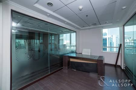 Office for Sale in Jumeirah Lake Towers (JLT), Dubai - Partitioned Office |High Floor | 2 Parking