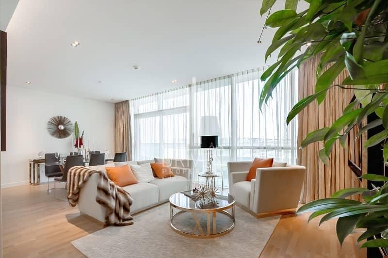 2 Furnished 1 Bed Apt w/ Burj Khalifa View